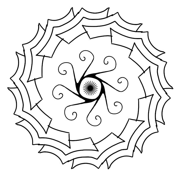 Circular Ornament 07