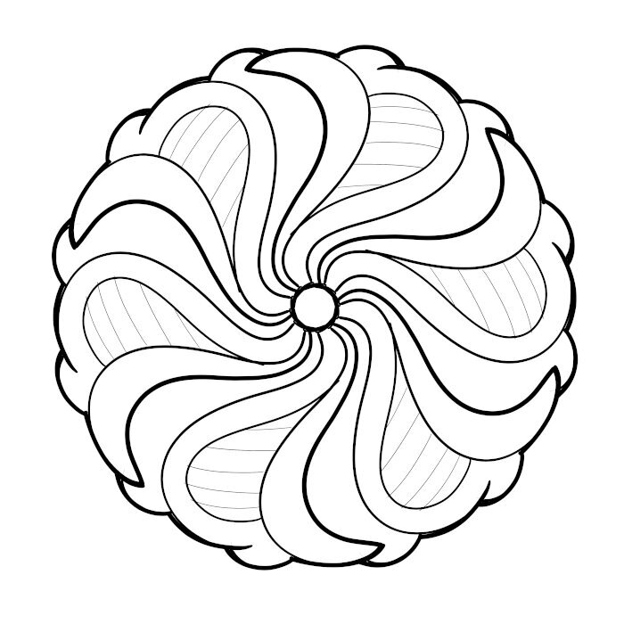 Circular Ornament 09