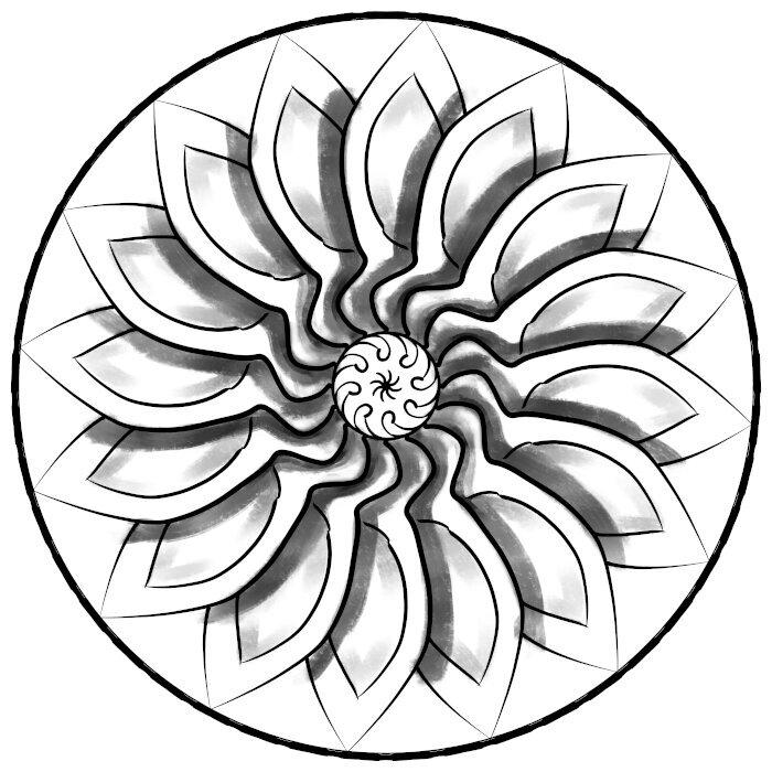 Circular Ornament 32