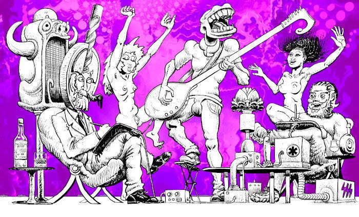 Le déjeuner en violet